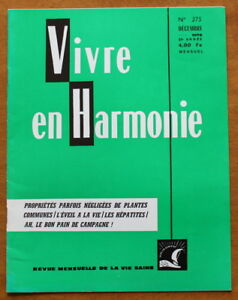 Vivre-en-Harmonie-N-275-de-1976-R-Dextreit-Hepatite-Pain-de-campagne