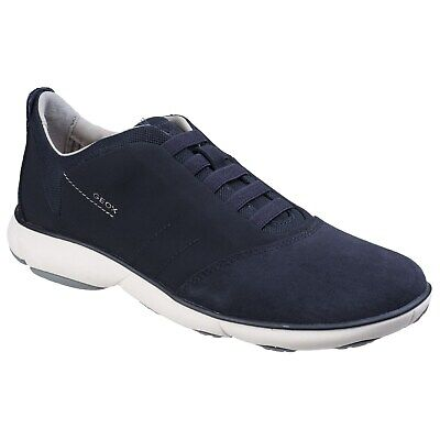 Geox Respira Happy Shoes Man Sneakers Leather Suede Fabric Casual Wedge | eBay