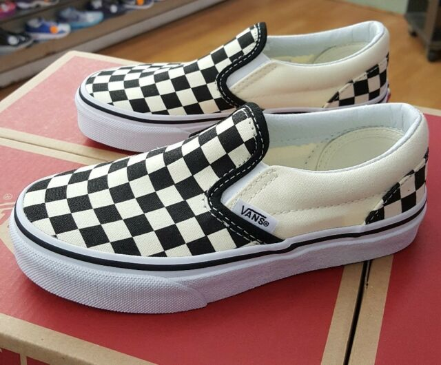 917002ac6e2e90 VANS CLASSIC SLIP-ON CHECKERBOARD BLACK WHITE VN000ZBUEO1 PRESCHOOL US SZ 13