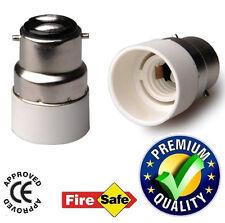 B22 to E14 LED Halogen CFL Light Base Bulb Lamp Adapter Converter Holder Socket