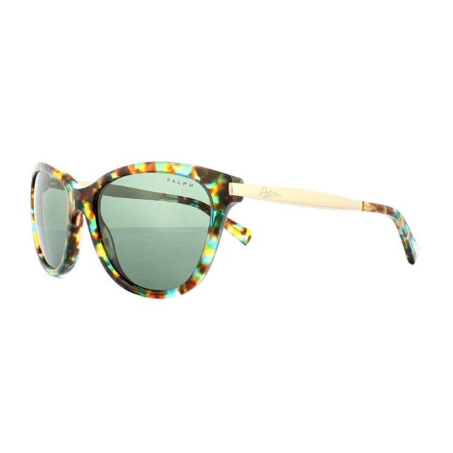 c22b4f1fb01 Ralph by Ralph Lauren Sunglasses 5201 145671 Havana Spotted Teal Gold Green