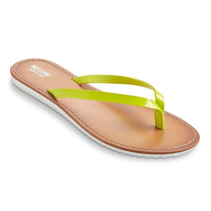 MOSSIMO Olivia Flip 6 FLOP Womens SandalsThong NEON GEEN SIZE 6 Flip M NEW 2d1700