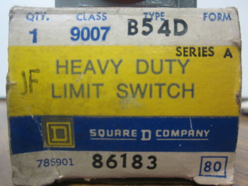 NEW SQUARE D HEAVY DUTY LIMIT SWITCH CLASS9007 TYPE B54D 86183.XT21B