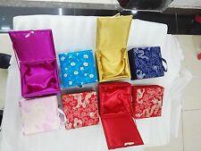 Wholesale8pcs Chinese Handmade Silk Luxury Ring Necklace Pendant Jewelry Box