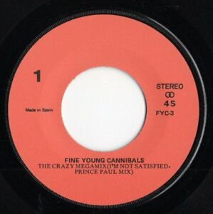 FINE-YOUNG-CANNIBALS-FYC-034-THE-CRAZY-MEGAMIX-034-RARE-SPANISH-PROMOTIONAL-7-034-VINYL