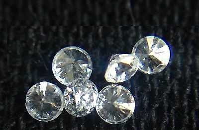 New Genuine Natural White Full Cut Round Diamond 3pc Lot 1.8mm G/VVS Melee Loose