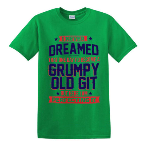 Perfecting Grumpy Old Git Mens Funny T Shirt//Gift for Him Dad Grandad Birthday