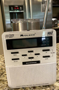 Midland Weather Radio WR-100 Public Alert NOAA Emergency (Missing Battery Cover)