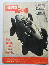 Auto Motor Sport 16/1961, Dodge Lancer, Bericht vom Solitude Rennen