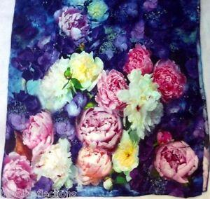 100-Silk-Scarf-XL-Exquizite-Handmade-LTD-Silk-Art-Stylish-Premium-SPECIAL-BR