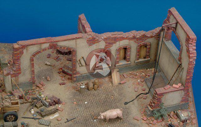 modeloo real 1   35 parte de las ruinas de la granja (28 x 22 X 15,5cm)