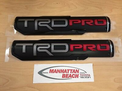 2016-2019 Toyota Tacoma TRD PRO Side Badges Emblems Genuine Toyota OEM Pair