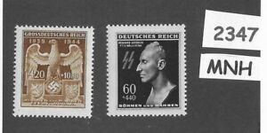 MNH-stamp-set-Heydrich-amp-German-Imperial-Eagle-WWII-Germany-Third-Reich