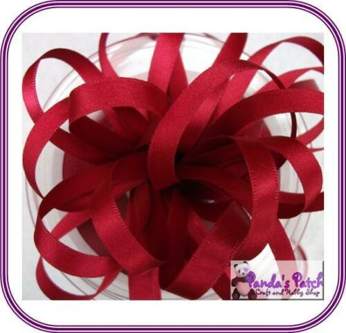 Choose Length and Colour Berisfords Double Sided 15mm Satin Ribbon