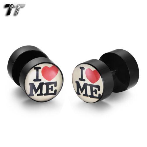 2020 NEW TT 8//10mm I/&ME Epoxy UV Acrylic Fake Ear Plug Earrings BU23
