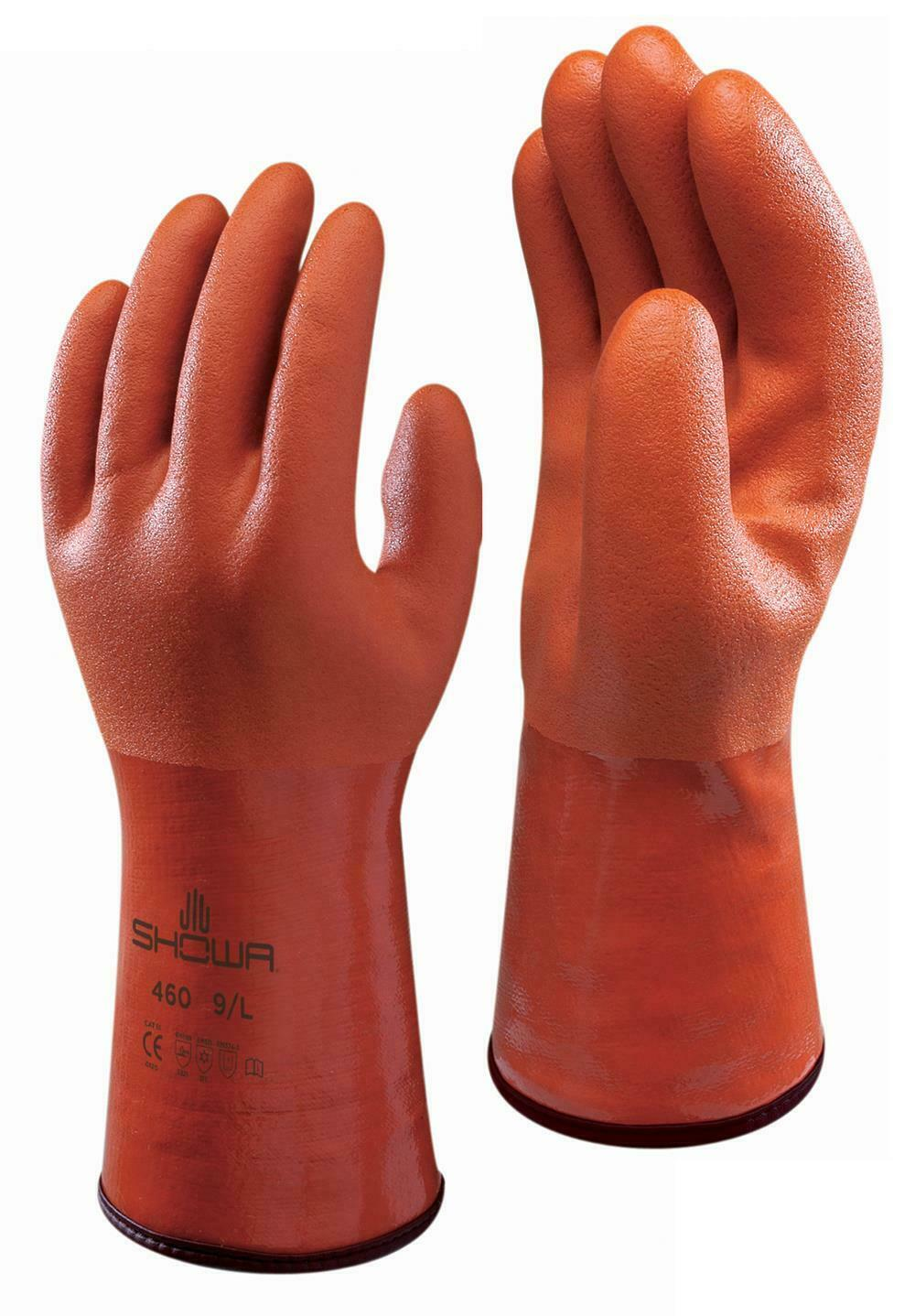 Showa 460 Insulated Liner PVC Coated Chemical & Cold Protective Gauntlet Glove