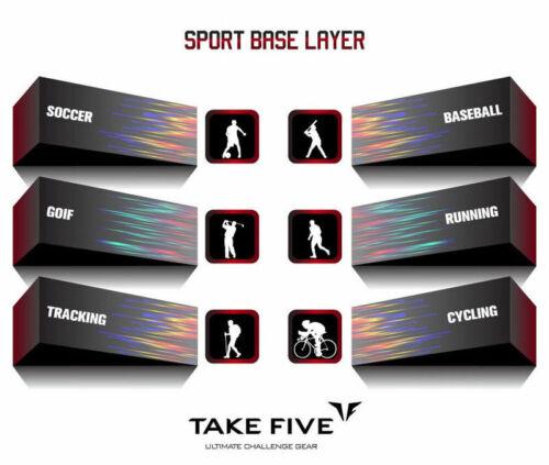 Take Five Mens Skin Tight Compression Base Layer Running Shirt S~2XL Black 076