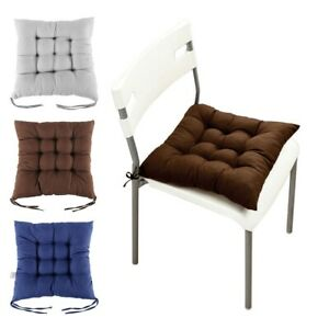 Chair-Cushion-SEAT-PADS-Thick-Tie-On-Garden-Dining-Kitchen-SQUARE