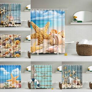 Shower Curtain Beach Ocean Sea S, Fishing Themed Bathroom Decor