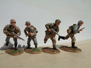 Conte-WW2031-ww2-German-Infantry-Waffen-SS-Charging-lot-of-4-Figures-metal-OT