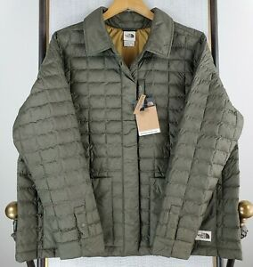 New-THE-NORTH-FACE-2XL-Womens-OD-Green-Thermoball-Snap-Quilted-Jacket-Coat-NWT