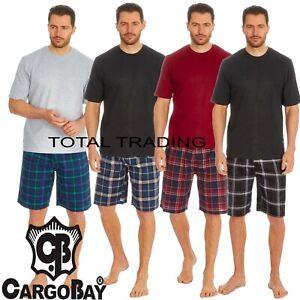 Mens Pyjamas Set  Cotton T-shirt top & Lounge short  BOTTOMS SUMMER WOVEN BOTTOM