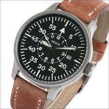 Aristo Swiss Quartz Pilot's Watch with a Black Dial, 42mm Sandblasted Case #3H80