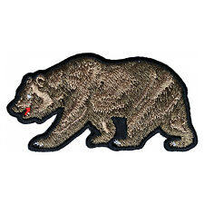 Embroidered California Brown Bear Iron on Sew on Biker Patch Badge