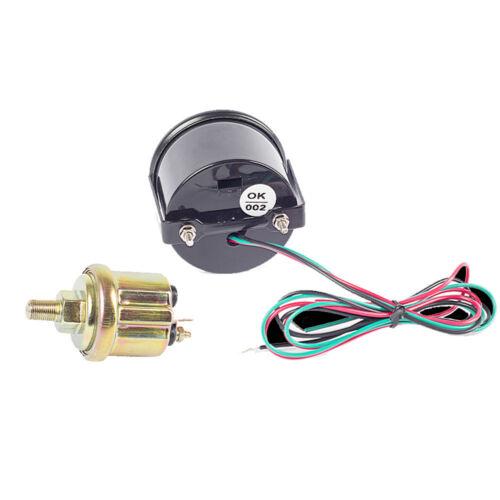 """Car Universal 2/"""" 52mm Digital Blue LED Oil Press Pressure Gauge PSI Pod Holder"""