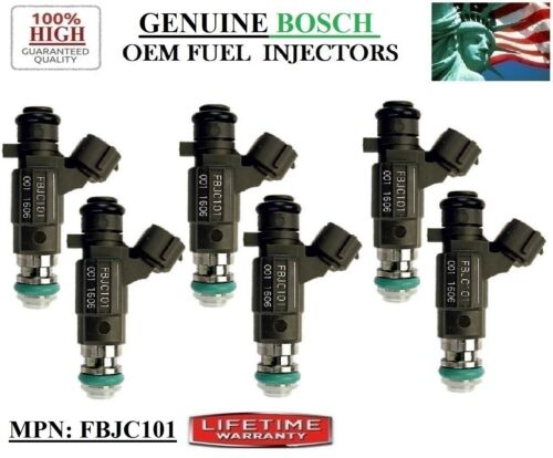 #FBJC101 Bosch 02-03 Nissan Altima 3.5L V6/< Refurb x6 Fuel Injectors FITS YRS