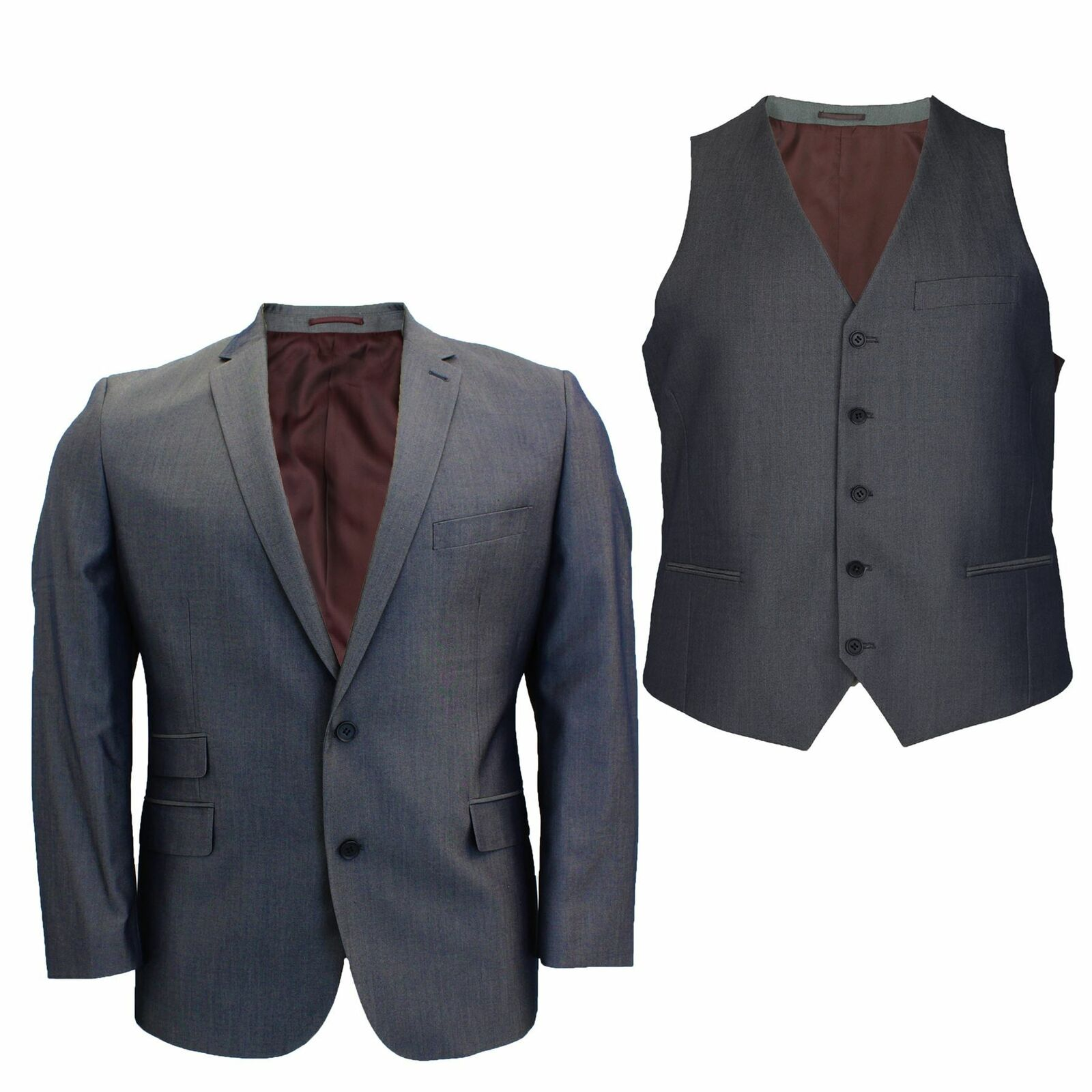 8354de36 Mens Big Size Charcoal Blazer Waistcoat 2 Piece Suit Sold Separately 50 52  54 56