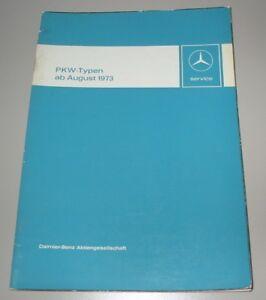 Automobilia Werkstatthandbuch Mercedes /8 230.4 240 D W 114 115 Om 616 615 M 180 130 1973!