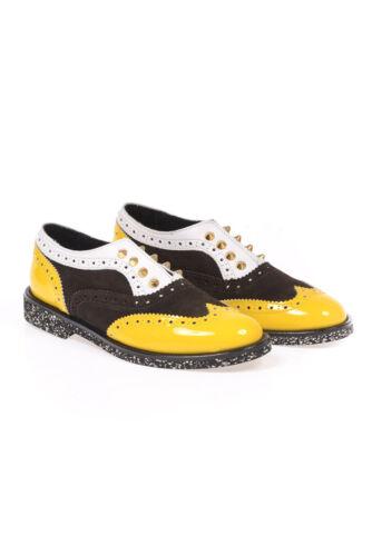 Fabriqué En Chaussures Femme Italie Chaussures 10c02 En Cuir Les Jaune uOkXZiTP