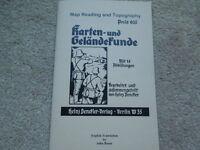 German Ww2 Maps/topography Manual English Translation