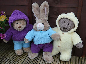 Knitting-pattern-Teddy-Bear-clothes-King-Cole-Cuddles-Sirdar-Snowflake-DK