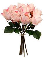 9 Roses Bouquets Many Colors Centerpieces Bridal Silk Wedding Flowers Decor