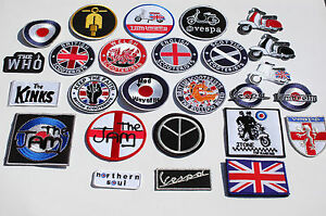 Scooter-Iron-Sew-On-Patches-112-Different-Designs-Mods-Ska-Full-Colour