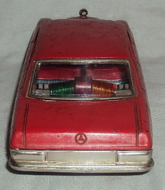 MERCEDES MADE IN TAIYO1960 OLD VINTAGE RARE BATTERY OPERATED TIN TIN TIN TOY CAR JAPAN d3d64e