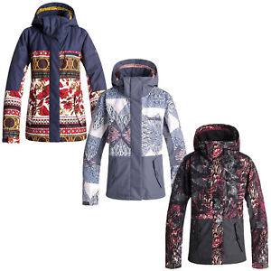 Sports Jetée Veste Snowboardjacke Sur Ski Roxy Détails D'hiver Damen De Bloc O0nPymvN8w
