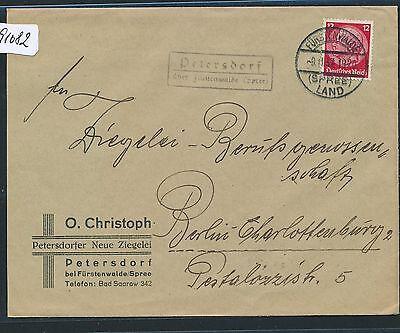 spree Fa.-brf 1937 Blut NäHren Und Geist Einstellen Dr > Ddr Landpost Ra2 Petersdorf über Fürstenwalde 91082