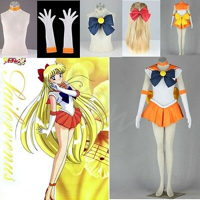 Sailor Moon Venus Aino Minako Cosplay Costume Custom Anime Role Players New Hot