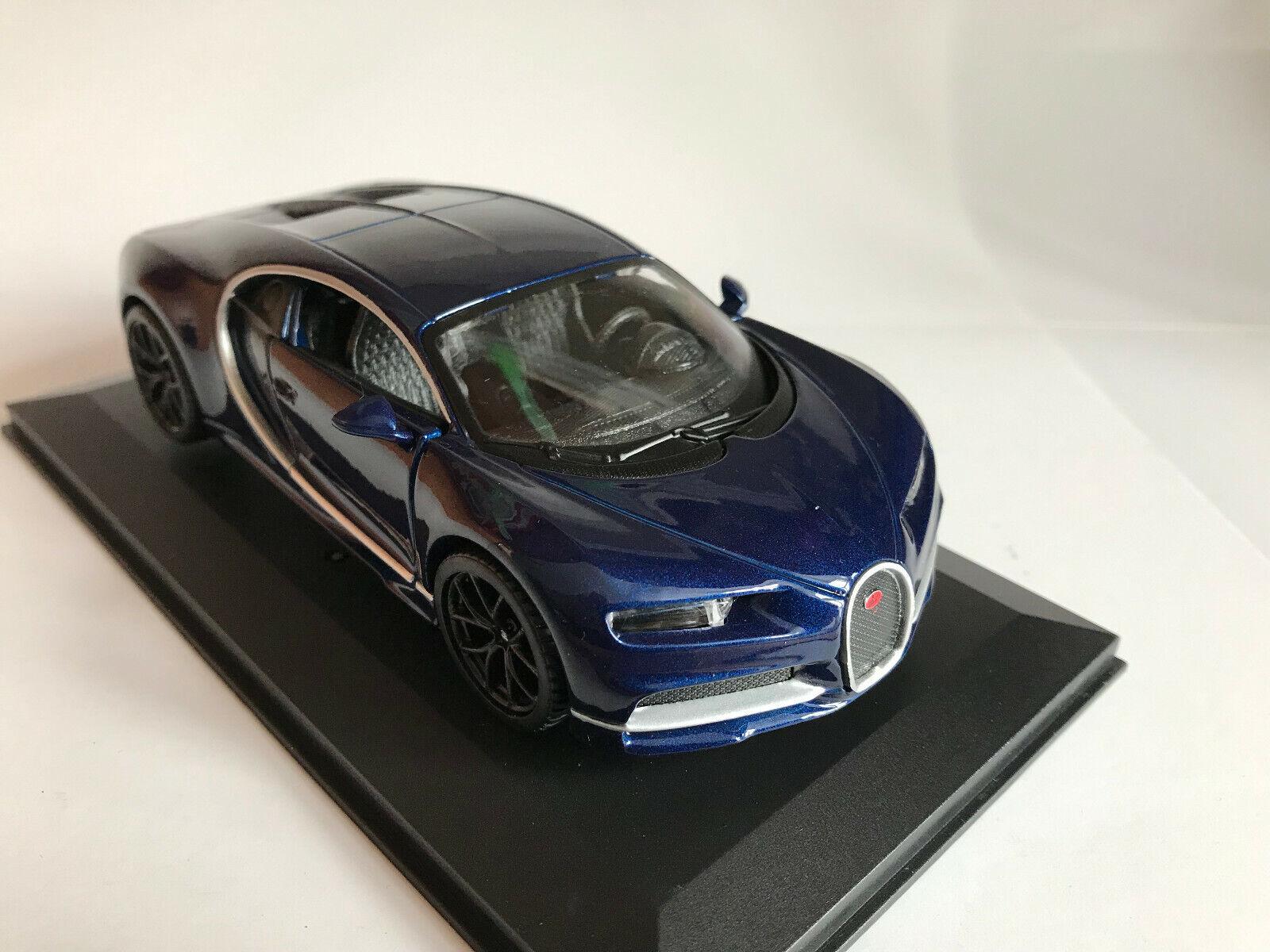 42025 Bburago 1:32 Bugatti Chiron DARK BLUE BLEU FONCé