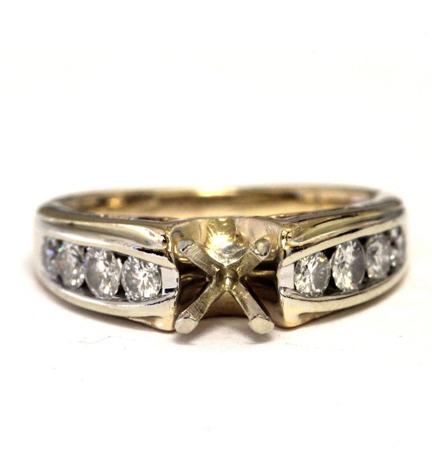 14k yellow gold .54ct SI2 H diamond semi mount engagement ring 4.8g