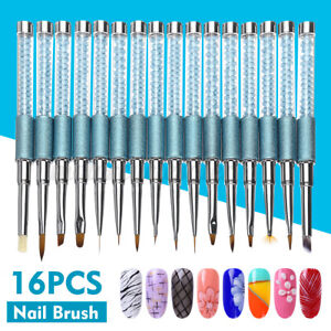 16Pcs-Nail-Art-Design-Pen-Painting-Dotting-Polish-Brush-UV-Gel-Drawing-Tools