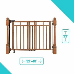Summer Infant Banister and Stair Wood Gate With Dual ...