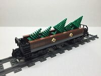 Lego Custom Tree Freight Car For 10194 Emerald Night. Very Nice All Parts
