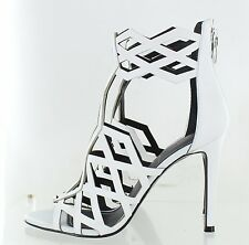 Kendall + Kylie Womens Elena3 Dress Sandal High Heel White Leather Size 8 M US