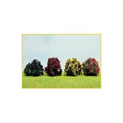4 Arbusti Fioriti, Giallo, Blu, Lilla, Melo, 3,5 Cm ( Er Decor - Er.2307 ) Prodotti Di Qualità In Base Alla Qualità