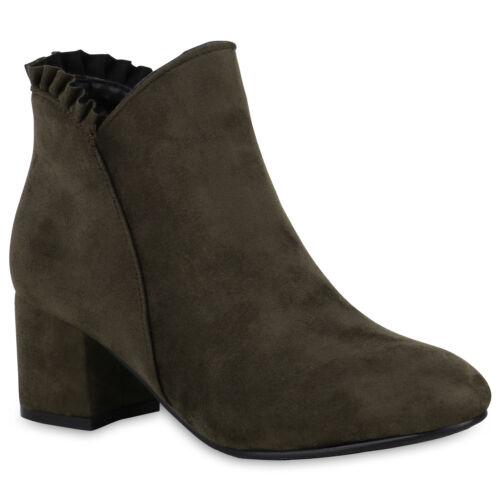 Klassische Damen Stiefeletten Volants Schuhe 823838 Trendy Neu