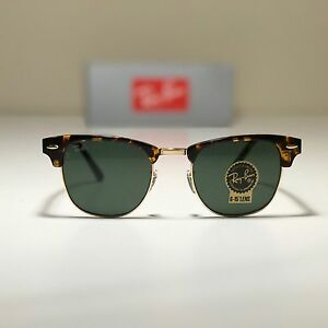 1651225cc67d ... promo code image is loading new ray ban clubmaster classic large tortoise  rb3016 eafbe dfca1